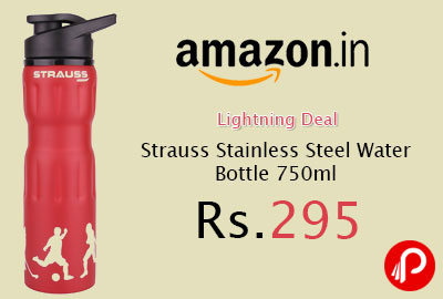 Strauss Stainless Steel Water Bottle 750ml