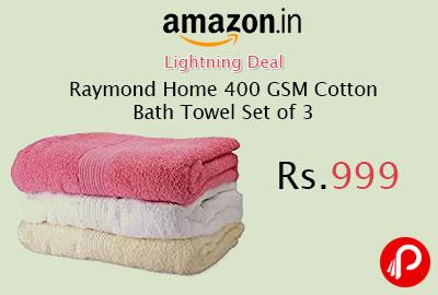 Raymond Home 400 GSM Cotton Bath Towel