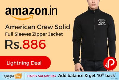 American Crew Solid Full Sleeves Zipper Jacket