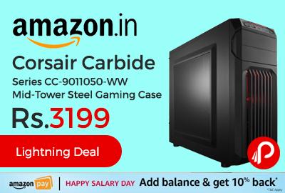 Corsair Carbide Series CC-9011050-WW Mid-Tower Steel Gaming Case