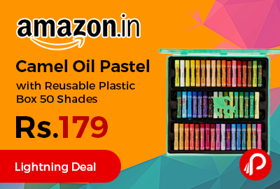 Camel Oil Pastel with Reusable Plastic Box 50 Shades