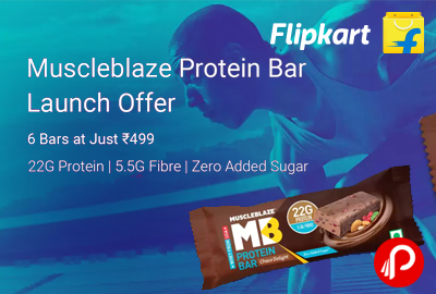 Muscleblaze MB Protein Bar Launching offer 6 Bars