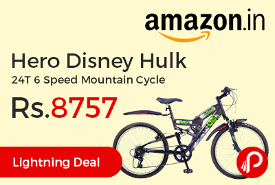 Hero Disney Hulk 24T 6 Speed Mountain Cycle