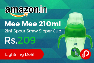 mee mee 210ml 2in1 spout straw sipper cup
