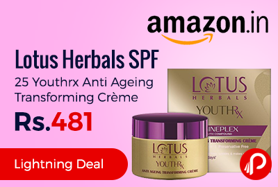 Lotus Herbals SPF 25 Youthrx Anti Ageing Transforming Crème