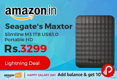 Seagate's Maxtor Slimline M3 1TB USB3.0 Portable HD