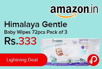 Himalaya Gentle Baby Wipes 72pcs Pack of 3