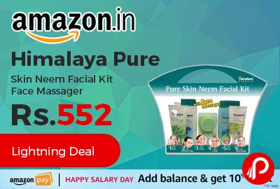 Himalaya Pure Skin Neem Facial Kit Face Massager