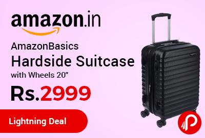 AmazonBasics Hardside Suitcase with Wheels