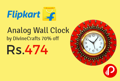 Analog Wall Clock by DivineCrafts