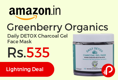 Greenberry Organics Daily DETOX Charcoal Gel Face Mask