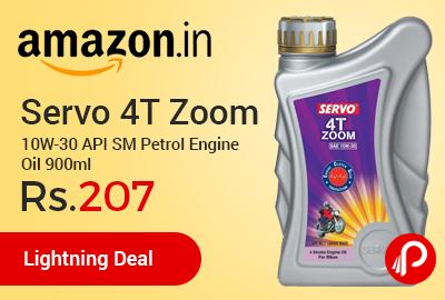 Servo 4T Zoom 10W-30 API SM Petrol Engine Oil 900ml