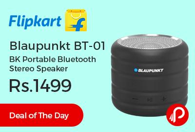 Blaupunkt BT-01 BK Portable Bluetooth Stereo Speaker