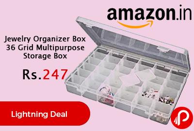 Jewelry Organizer Box 36 Grid Multipurpose Storage Box
