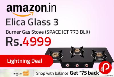 Elica Glass 3 Burner Gas Stove