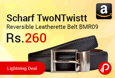 Scharf TwoNTwistt Reversible Leatherette Belt BMR09