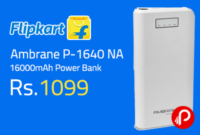Ambrane P-1640 NA 16000mAh Power Bank