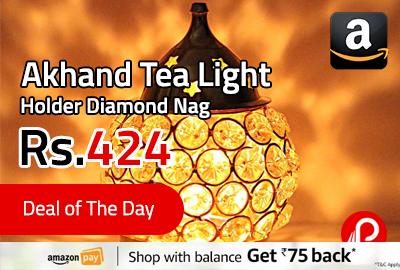 Akhand Tea Light Holder Diamond Nag