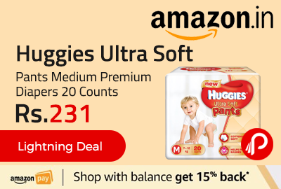Huggies Ultra Soft Pants Medium Premium Diapers 20 Counts