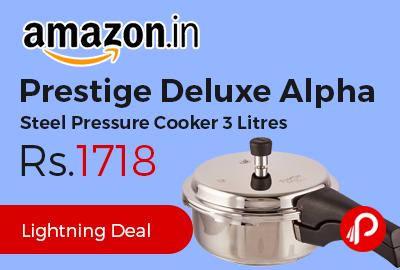 Prestige Deluxe Alpha Steel Pressure Cooker 3 Litres