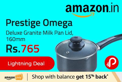 Prestige Omega Deluxe Granite Milk Pan Lid, 160mm