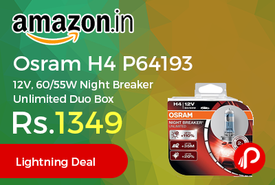 Osram H4 P64193 12V, 60/55W Night Breaker Unlimited Duo Box