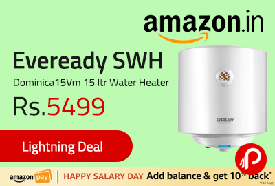 Eveready SWH Dominica15Vm 15 ltr Water Heater
