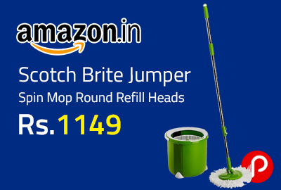 Scotch Brite Jumper Spin Mop Round Refill Heads