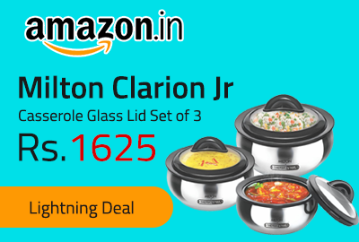Milton Clarion Jr Casserole Glass Lid Set of 3