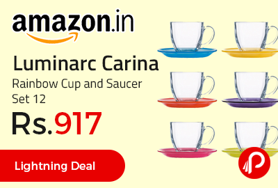 Luminarc Carina Rainbow Cup and Saucer Set 12 pcs