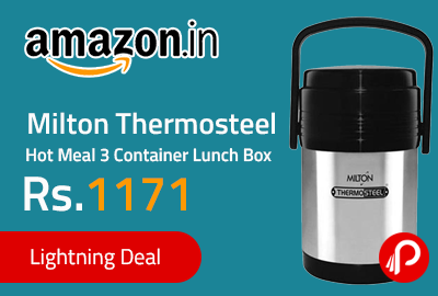 Milton Thermosteel Hot Meal 3 Container Lunch Box