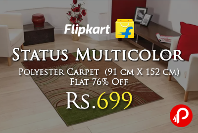 Status Multicolor Polyester Carpet