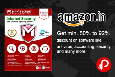Software Minimum 50% Off UPTO 90% Off- Amazon