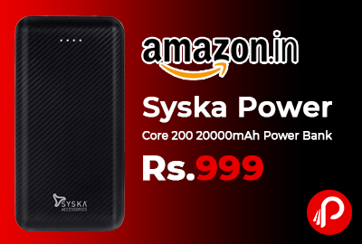 Syska Power Core 200 20000mAh Power Bank