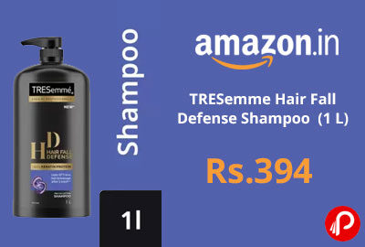 TRESemme Hair Fall Defense Shampoo (1 L) @ 394 - Flipkart