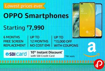 OPPO Smartphones Starting 7990 | Lowest Price Ever - Amazon India