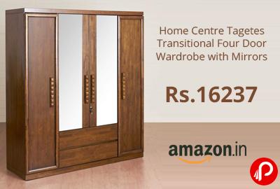 Transitional Four Door Wardrobe with Mirrors @ 16237 - Amazon India