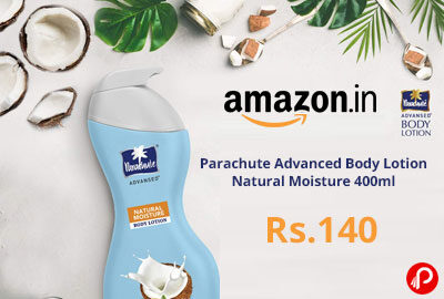 Parachute Body Lotion 400ml @ 140 - Amazon India