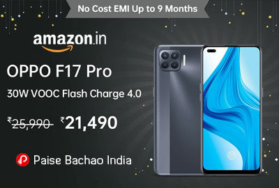 OPPO F17 Pro (Matte Gold, 8GB RAM, 128GB Storage) - Amazon India