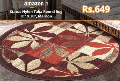 Status Nylon Taba Round Rug @ 649 - Amazon India