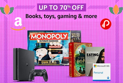 Books, Toys, Gaming - UP TO 70% OFF - Republic Day Sale – Amazon India