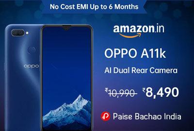 OPPO A11K (Deep Blue, 2GB RAM, 32GB Storage) - Amazon India