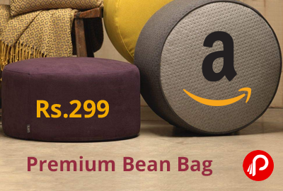 Footstool Bean Pouffe with Beans @ 299 - Amazon India
