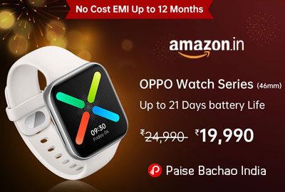 OPPO Watch 46MM WiFi (Black) - Amazon India