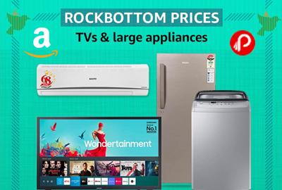 TVs & Large Appliances - ROCKBOTTOM PRICES - Republic Day Sale – Amazon India