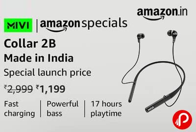 Mivi Collar 2B Wireless Earphones @ 1,199 - Amazon India