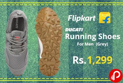 Ducati Running Shoes For Men (Grey) @ 1,299 - Flipkart