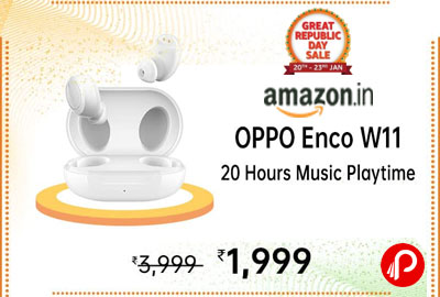 OPPO Enco W11 True Wireless Earphone (White) @ 1,989 - Amazon India