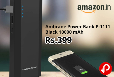 Ambrane Power Bank P-1111 Black 10000 mAh @ 399 - Amazon India