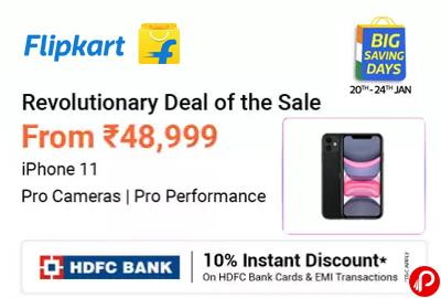 IPhone 11 @ 48,999   Revolutionary Deal Of The Sale - Flipkart